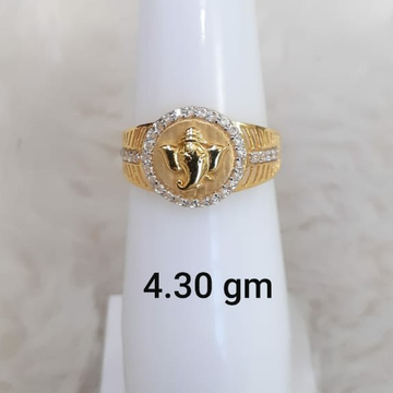 916 Fancy Customisable Ganpati Gent's ring by