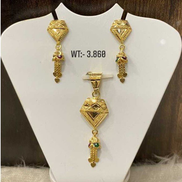 Gold Pendant Set by
