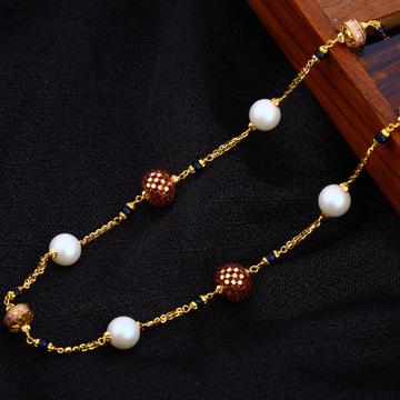 22KT Gold Ladies Antique Chain Mala AC190