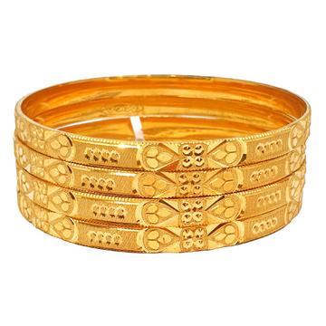 One gram gold forming plain bangles mga - kde0022
