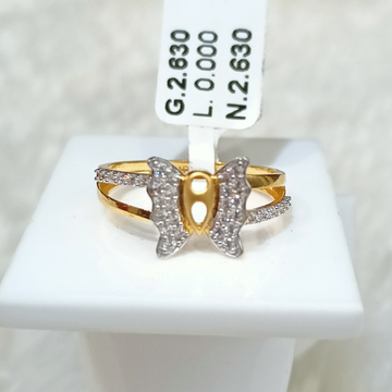 22 KT BUTTERFLY RING by