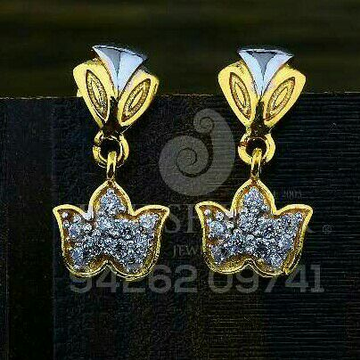 18kt Flower Designe Cz Gold Ladies Tops ATG -0730