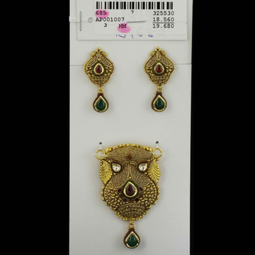 916 Antique Mangalsutra Pendant Set