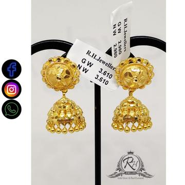 22 carat gold fancy ladies earrings RH-ER862