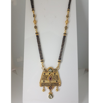 916 Gold Antique Long Mangalsutra IO-A013