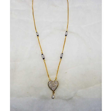 916 Fancy Gold Dokiya With Heart Shape Pendant