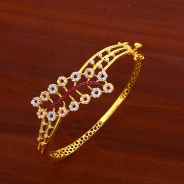 18KT Women's CZ  Stylish Gold Kada Bracelet LKB167
