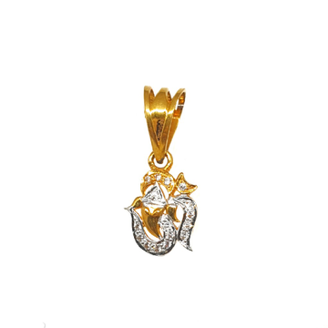 22K Gold Om Ganesh Pendant MGA - PDG0222
