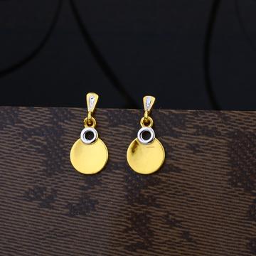 Ladies 916 Gold Plain Earring -LPE07