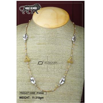 18 carat Italian ladies fancy gold chain triangle chian ifg0042