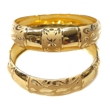 916 yellow gold Patla Bangles MGA - GP074