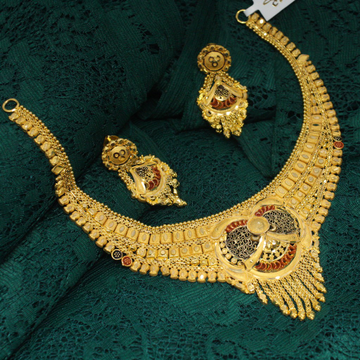 916 Hallmarked Attractive Necklace With Beautiful... by Simandhar Jewellers