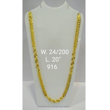 22KT Gold Fancy Chain For Men