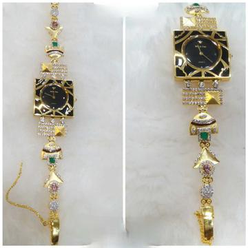 18k Ladies Fancy Gold Watch G-2219