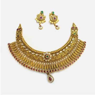 916 Gold Antique Bridal Choker Set RHJ-4995