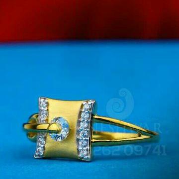 916 Fancy Solitar Stone Cz Ladies Ring