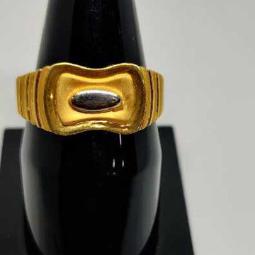 916 men's plain gold ring