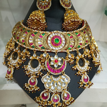 Bridal necklace set#bdns104