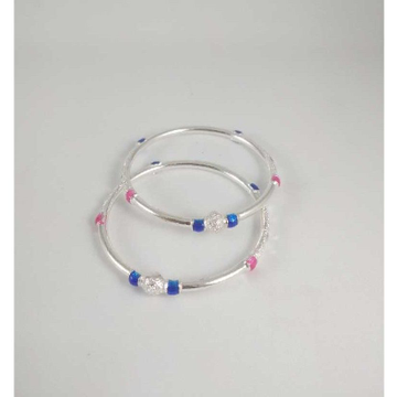 Silver Fancy Bangles. NJ-B01042