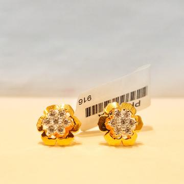 916 Hallmark Flower Ladies Earrings by Pratima Jewellers
