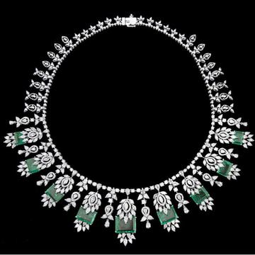 Diamonds and Emeralds NecklaceJSJ0133