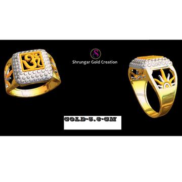 916 Gold Om Gents Ring