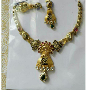 22K / 916 Ladies Gold Antique Necklace Set