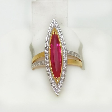 916 Gold Pink Stone Ladies Ring ML-LR004