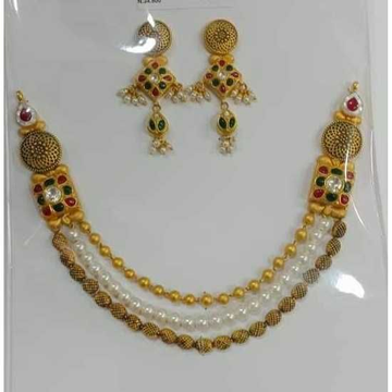 22ct Gold Fancy Necklace Set by Vipul R Soni