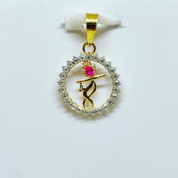18 KT 750 Hallmark fancy diamond Shree Krishna Pendent by Harekrishna Gold