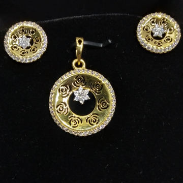 75/18 carat rose pendant set