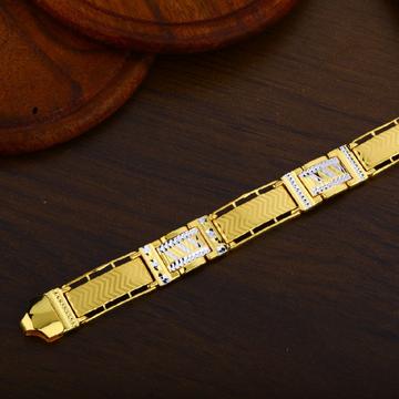 Mens 22K Gold Daily Wear Casting Bracelet-MPB42