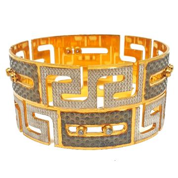 One gram gold forming movable diamond bangles mga...