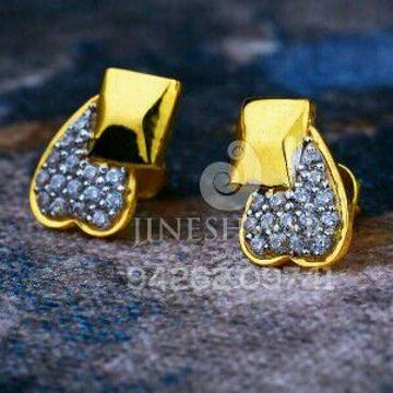 18kt Designer Fancy Gold Cz Ladies Tops ATG -0170