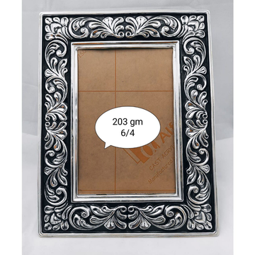 Pure silver photo frame in fine carvings po-171-04 by Puran Ornaments