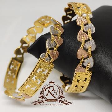 18 carat gold traditional ladies bangels kada Rh-lr906