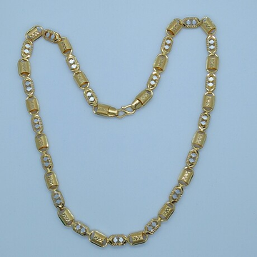 916 HM Gold Fancy Rhodium Chain MJ-CH-004