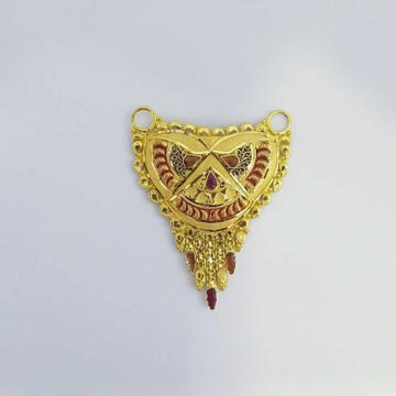 916 Gold Fancy Mangalsutra Pendants RJ-MP027
