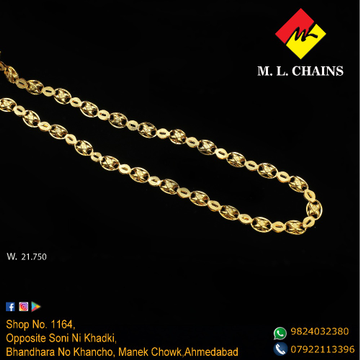 916 Gold Indo Italian Chain ML-C09