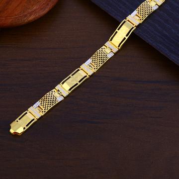 Mens Gold 916 Bracelet-MPB133