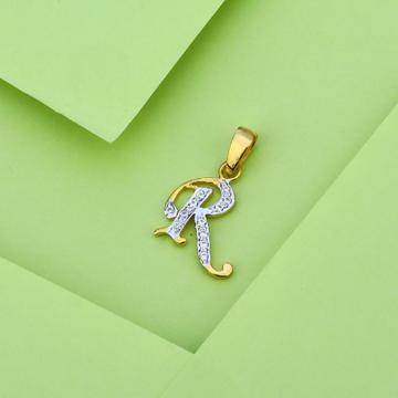 916 Gold Cz Letter Pendant LP17