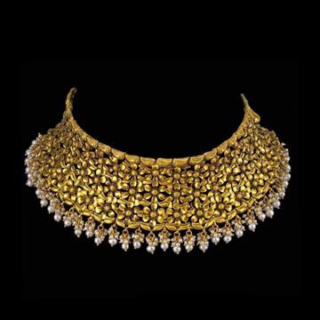 22KT Gold Luxury And Elegance Choker Set for Bride