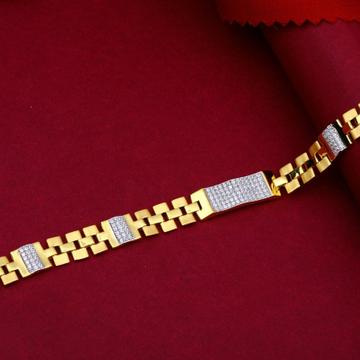 22KT Gold Sleek Bracelet For Men
