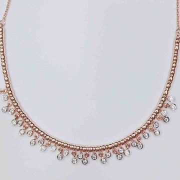 925 silver Rosegold plated Necklace by Veer Jewels