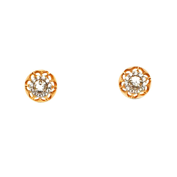 18K Rose Gold Round Shape Earrings MGA - BTG0130