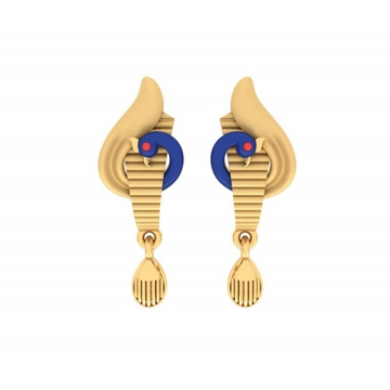 22kt gold fancy peacock design earring pj-e011