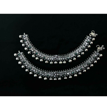 92.5 Sterling Silver Super Anklet(Payal) Ms-3858