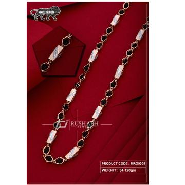 18 carat Rose gold rudraksh gents chain mrg0005