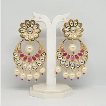 Designer Pink Stone Latkan Earring