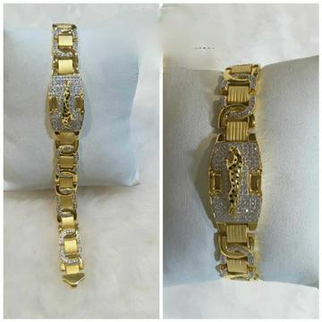 22k Gents Fancy Gold Jaguar Bracelet G-9606